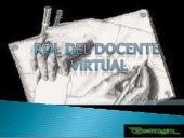 Rol del docente virtual