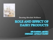 Role and effect of dairy products