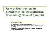 Role of Nutritionists in Strengthen...