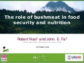 Role of bushmeat in food security and nutrition