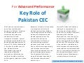 Role of CEC of Pakistan