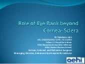 Role of Eye Bank beyond Cornea - Sc...