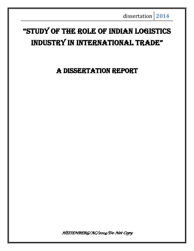 Clearing forwarding and shipping management dissertation