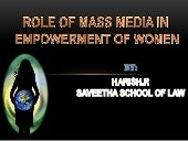 Role of mass media in women empower...