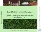Role of nutrition in farm managemen...