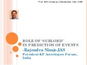 Role of 'sublord'