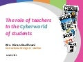 Role of the teacher in cyberworld of students