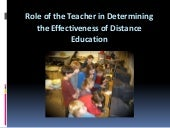 Role of the teacher in determining ...