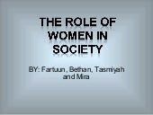 Role of women in hardy's society   ...