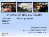 Information Roles in Disaster Manag...