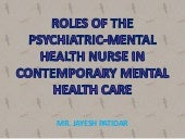 Roles of the psychiatric mental hea...