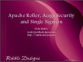 Apache Roller, Acegi Security and S...