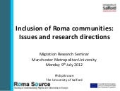 Inclusion of Roma communities  	Dr ...