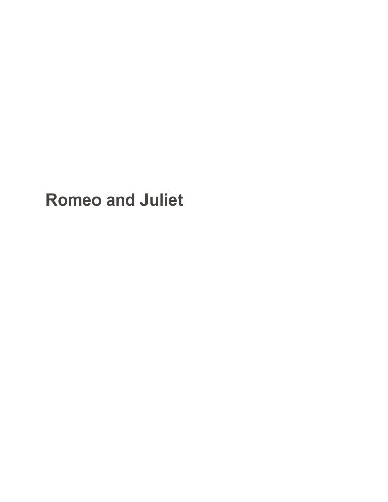 Romeo and juliet as a tragedy essay