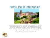 Rome Travel Information