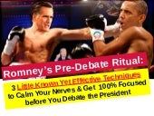 Romney's ritual before public speak...
