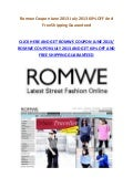 Romwe Coupon June 2013 July 2013 60% OFF And Free Shipping Latest Deals