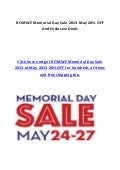 ROMWE Memorial Day Sale 2013 May 20% OFF And Exclusive Deals