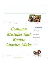 Rookie coach brochure
