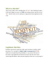 Research Paper on Rootkit.