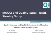 MOOCs and Quality Issues