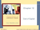 Ross, Chapter 12 Cost Of Capital