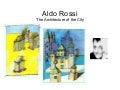 Aldo Rossi and The Architecture of the City