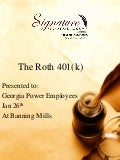Roth 401(K) Powerpoint