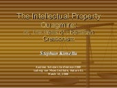 The Intellectual Property Quagmire:...