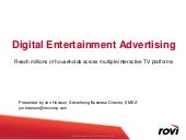 Rovi Advertsing Overview