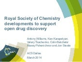 Royal society of chemistry developments to support open drug discovery