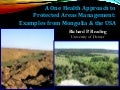 A One Health Approach to Protected Areas Management and Governance: Examples from Mongolia and the USA, Richard READING