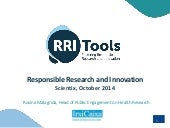 R. Malagrida: Responsible Research and Innovation, a new paradigm in Horizon 2020