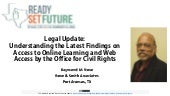 Legal Update: Understanding the Latest Findings on Access to Online Learning and Web Access by the Office for Civil Rights