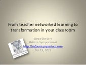 From teacher networked learning to ...