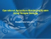 Operational Agriculture Monitoring ...