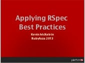 Applying RSpec Best Practises