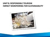 Unit 8: Responsible Tourism Impact ...