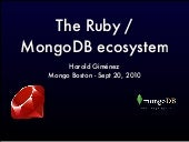 The Ruby/mongoDB ecosystem