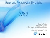 Ruby & Python with Silverlight O RL...