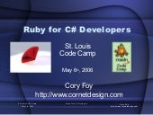Ruby for C# Developers