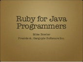 Ruby For Java Programmers