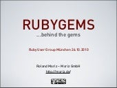 Rubygems - behind the gems.