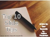Top 10 Slide Tips