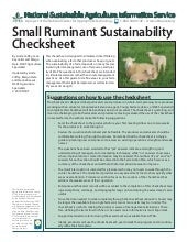 Small Ruminant Sustainability Check...