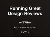 Running Great Design Reviews With C...