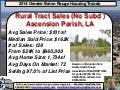 Rural Tract Ascension Parish Louisiana Home Sales and Prices 2014