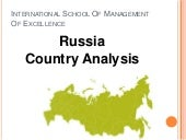 Country Analysis Of Russia