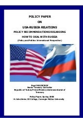 USA-Russia Relations, Policy Recomm...