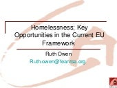 Key Opportunities for Homeless Poli...